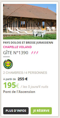 Gîte n°1390, Chapelle-Voland